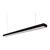 Luminária Pendente Slim Preta LED 36W 4000K Bivolt - Trancil