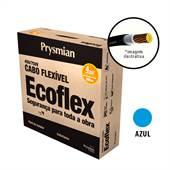 Rolo 100 Metros Cabo Ecoflex 750V 4mm Azul Prysmian