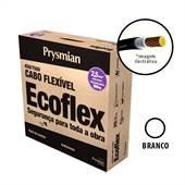 Rolo 100 Metros Cabo Ecoflex 750V 2,5mm Branco Prysmian