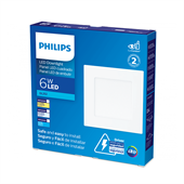 Painel LED Branca Quadrada 6W Branca Quente 12cm Bivolt Philips