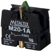 Bloco Contato 1NA 5A para Botão M2/P2 Metaltex