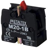 Bloco Contato 1NF 5A para Botão M2/P2 Metaltex