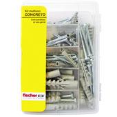 Kit Multiuso Concreto + Parafuso Cabeça Panela Philips Fischer
