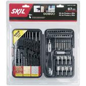 Kit Brocas e Bits com 67 peças 2607017085 Skil