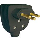 Plug Macho Preto 20A 250V 2 Pinos + Terra 615853 Pial