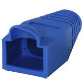 Capa Fixação para RJ45 Boot Azul CAT5E Metaltex