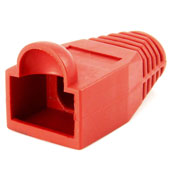 Capa Fixação para RJ45 Boot Vermelho CAT5E Metaltex