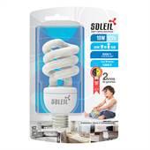 Lâmpada Fluorescente Eletrônica Espiral 19W 127V 5300K Luz Branca Fria Soleil