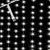 Gambiarra Cascata 100 Micro Lâmpadas Branco 1,8 Metros Fixo