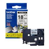 Fita 18mm Preto sobre Branco TZFX241EU Brother
