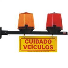 Sinalizador Garagem Sequencial 220V com Alarme 104 TKN