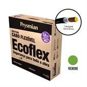 Rolo 100 Metros Cabo Ecoflex 750V 2,5mm Verde Prysmian