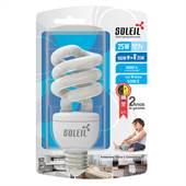 Lâmpada Fluorescente Eletrônica Espiral 25W 127V 5300K Luz Branca Fria Soleil