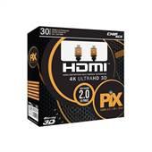 Cabo Hdmi 30 Metros 2.0 4K 3D Ultra HD 183020 - Pix