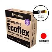Rolo 100 Metros Cabo Ecoflex 750V 2,5mm Vermelho Prysmian