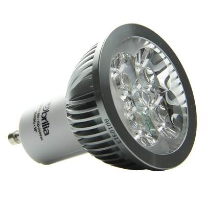 L mpada led 6w bivolt gu10 3000k brilia for Lampada led gu10