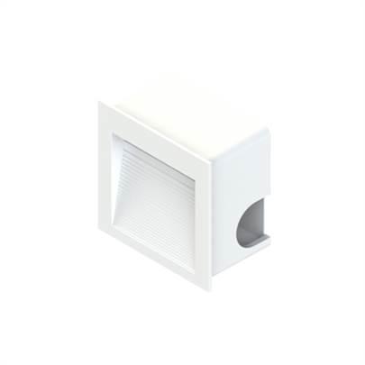 Balizador Branco Quadrado Embutir 1 5w 3000k Bivolt 3551446 Save