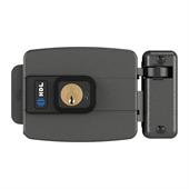 Fechadura Elétrica 12V C90 CTRL P/RFID Abre para Dentro Cinza HDL