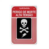 Placa Alumínio 16X24cm Perigo Morte Alta Tensão
