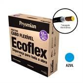 Rolo 100 Metros Cabo Ecoflex 750V 2,5mm Azul Prysmian