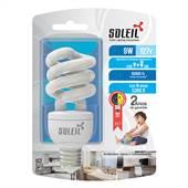Lâmpada Fluorescente Eletrônica 9W 127V 5300K Luz Branca Fria Soleil