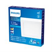 Plafon Led Branco Quadrado Sobrepor 12W Branco Neutro 17cm Bivolt Philips