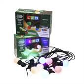 Cordão Luminoso 8m 10 Leds 3W Uso Externo Colorido 100/240