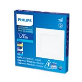 Painel de Led Branco Quadrado 12W Branco Frio 17cm Bivolt - Philips