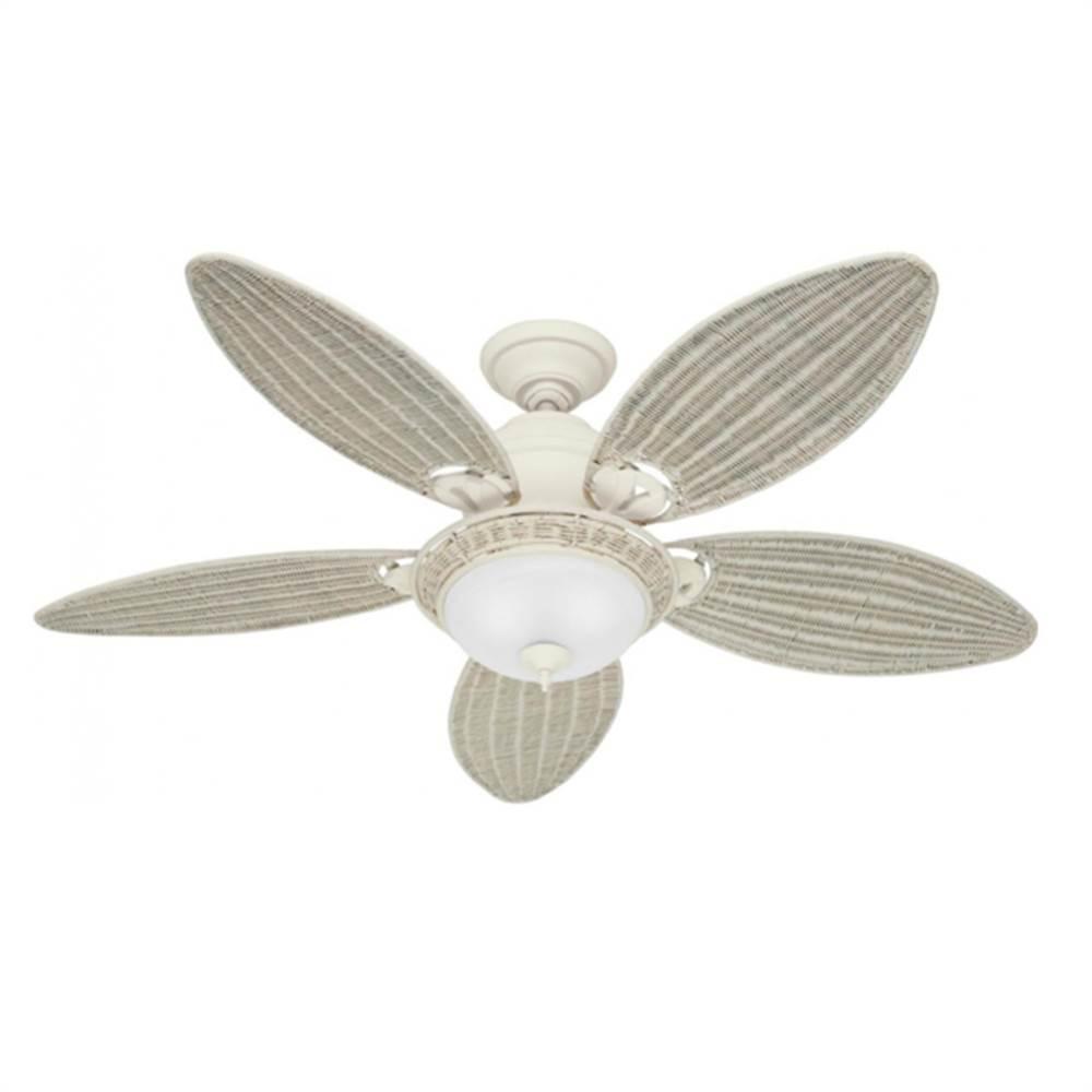 5aeeb78e9 Ventilador Caribbean Breeze Branco Patinado 120V 5 Pás 54