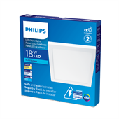 Painel de Led Branco Quadrado 18W Branco Quente 22cm Bivolt - Philips